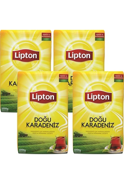 Lipton Doğu Karadeniz Dökme Çay 1000gr x 4 Adet