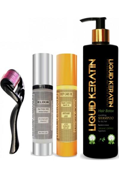 Liquid Keratin Saç Çıkaran - Saç Dökülmesini Önleyen Titanyumlu Keratin Bakım Seti