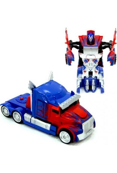 Can Toys Tek Tuşla Robota Dönüşen Çek Bırak Oyuncak Araba Hem Robot