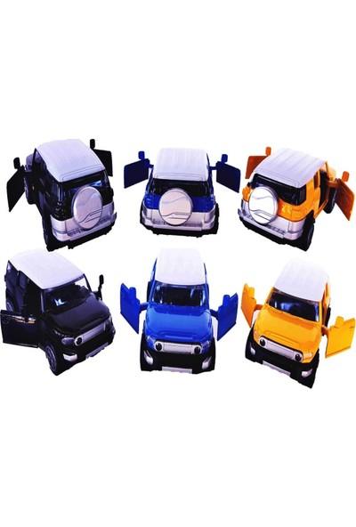 Tigoes Metal Çek Bırak Araba Jeep Diecast Çlgın Arabalar 3'lü Spor Jeep