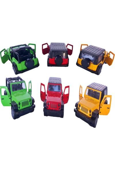 Tigoes Metal Çek Bırak Araba Jeep Diecast Çlgın Arabalar 3'lü Arazi Jeep