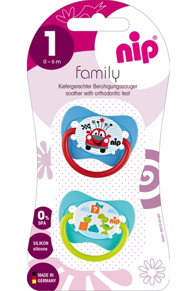 Nip Family Silikon Emzik 0 - 6 Ay