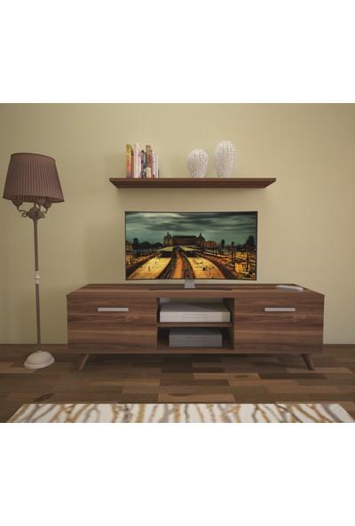 Nur Mobilya 120 cm Asya Tv Ünitesi Tv Sehpası Ceviz