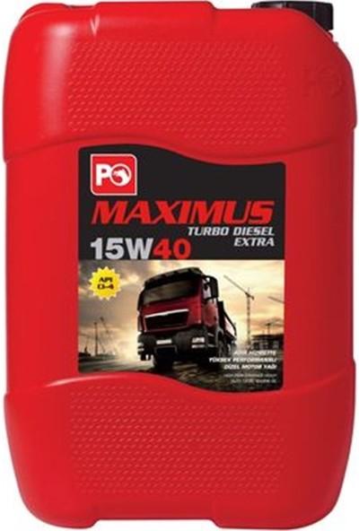 Petrol Ofisi Maximus 15W-40 20 Litre Motor Yağı ( Üretim Yılı :2021 )