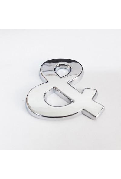 Cemax & İşareti 3,75 cm Krom Yapışkanlı