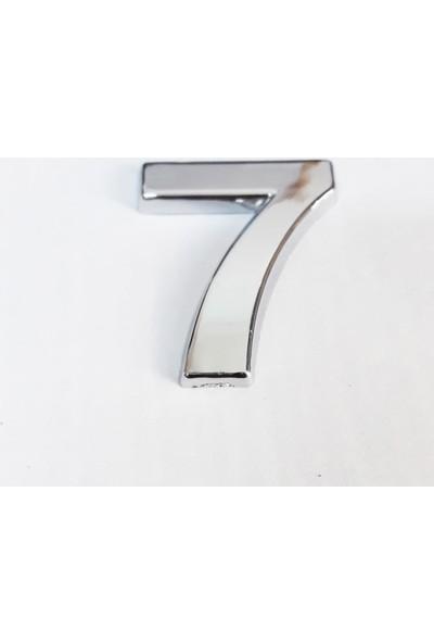 Cemax 7 Rakamı 3,75 cm Krom Yapışkanlı