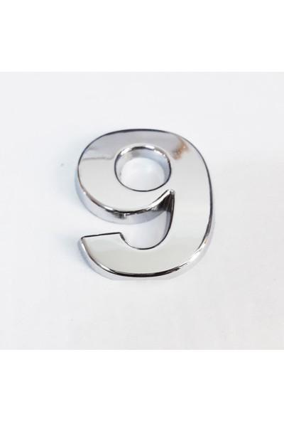 Cemax 9 Rakamı 3,75 cm Krom Yapışkanlı