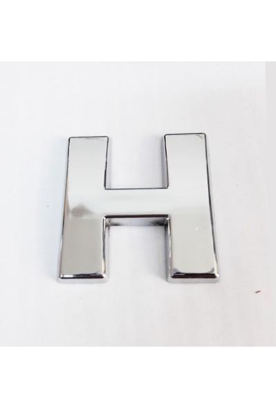 Cemax H Harfi 3,75 cm Krom Yapışkanlı