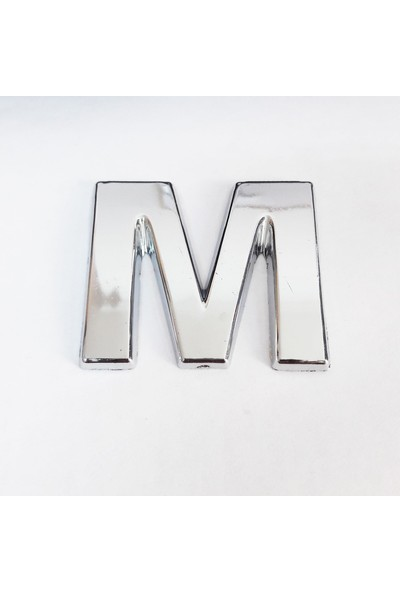Cemax M Harfi 3,75 cm Krom Yapışkanlı