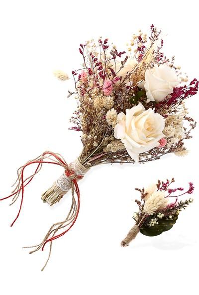 Turunç Tasarım Gelin El Çiçeği Ve Damat Yaka Çiçeği