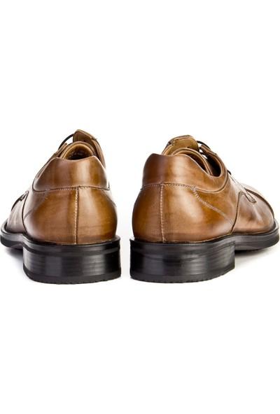 Cabani Bağcıklı Günlük Erkek Ayakkabı Kahve Sabunlu Deri