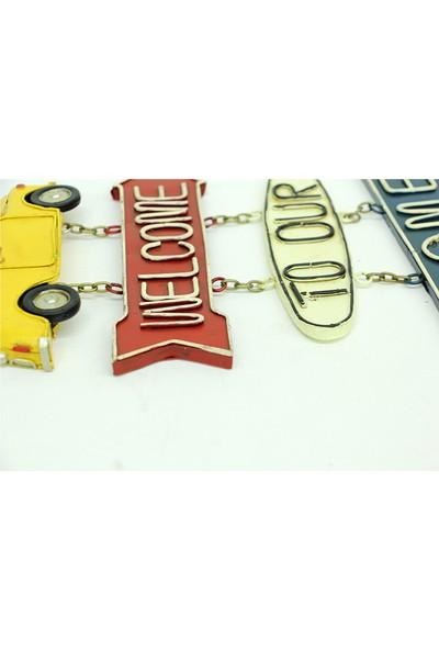 Mnk Dekoratif Metal Kapı Yazısı Araba