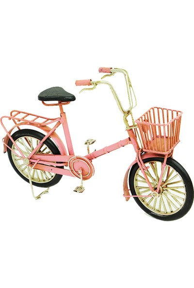 Mnk Dekoratif Metal Bisiklet Sepetli
