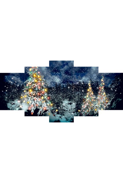 Reticolor Yılbaşı Ağacı Mdf Tablo