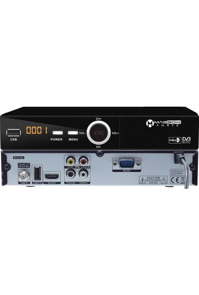Magbox Forte Full Hd Usb Pvr Kasalı Uydu Alıcısı Tkgs'Li (Hdmı-Rca)