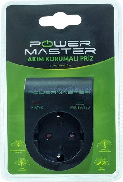 Powermaster Tekli Akım Korumalı Priz
