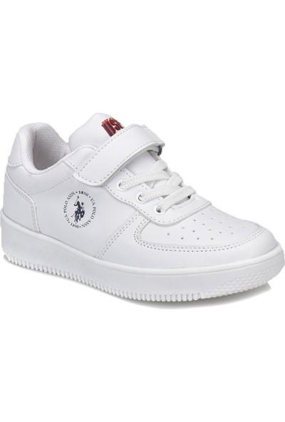 U.S. Polo Assn. Dimler Beyaz Erkek Çocuk Sneaker Ayakkabı