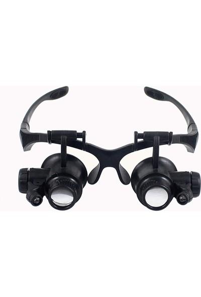 Makroptik Yüksek Büyütmeli Gözlük Tipi Büyüteç