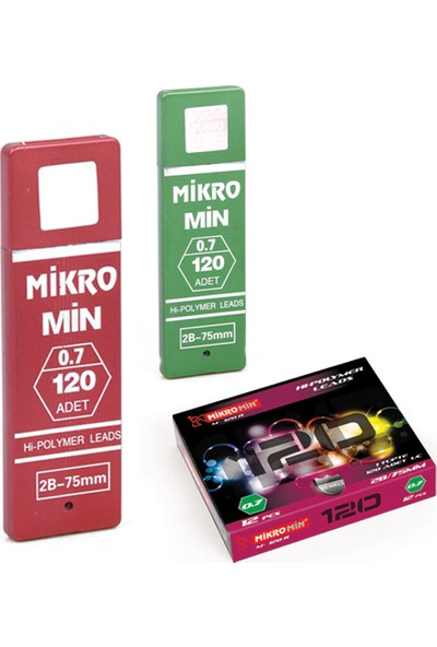 Mikro Mikro M-120 75 Mm. 2B 0.7 Mm. Min 120' Li Versatil Kalem Ucu