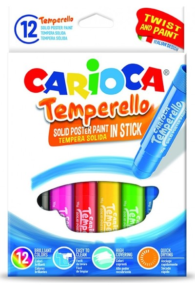 Carioca Temperello Stick Poster Boyama Kalemi 12'Li