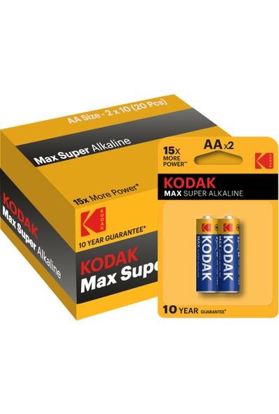Kodak Max 20 Adet Alkalin Kalem Pil
