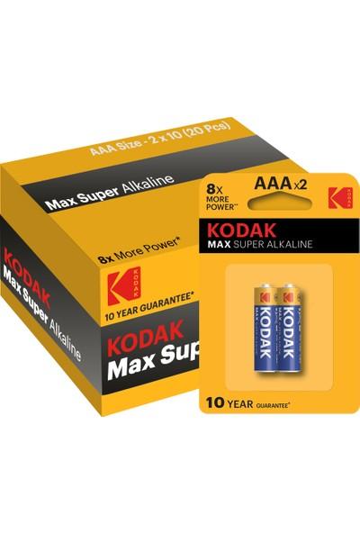 Kodak Max 20 Adet Alkalin İnce Pil