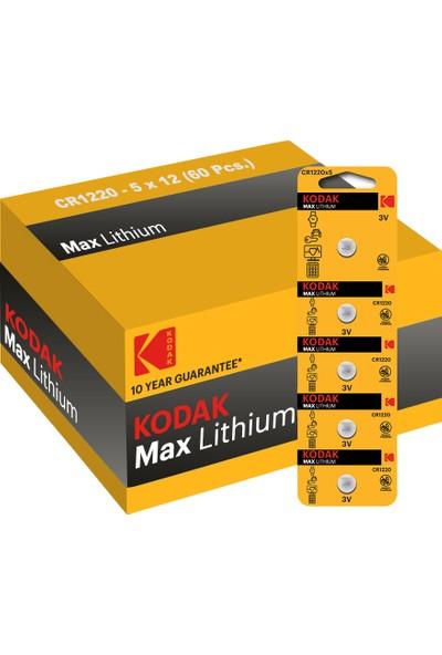 Kodak 60 Adet Cr1220 Lityum Para Pil