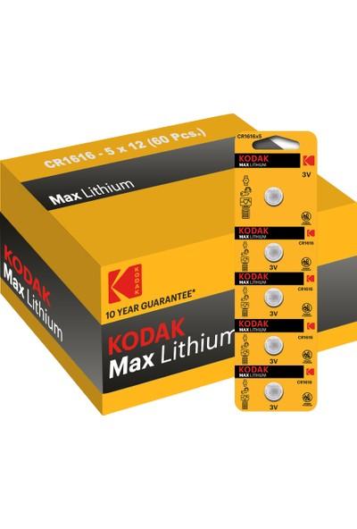 Kodak 60 Adet Cr1616 Lityum Para Pil