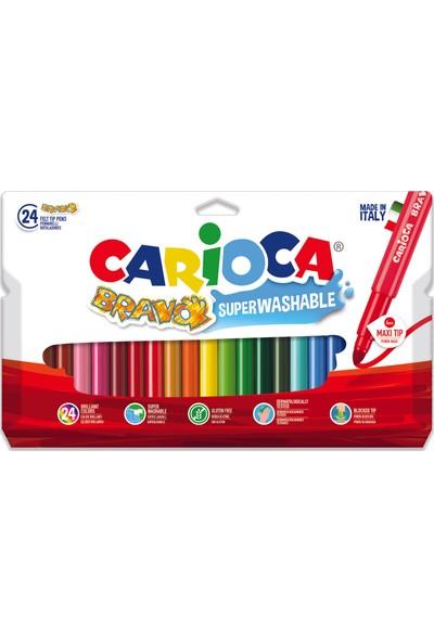 Carioca Bravo Süper Yikanabilir Keçeli Boya Kalemi 24'Lü