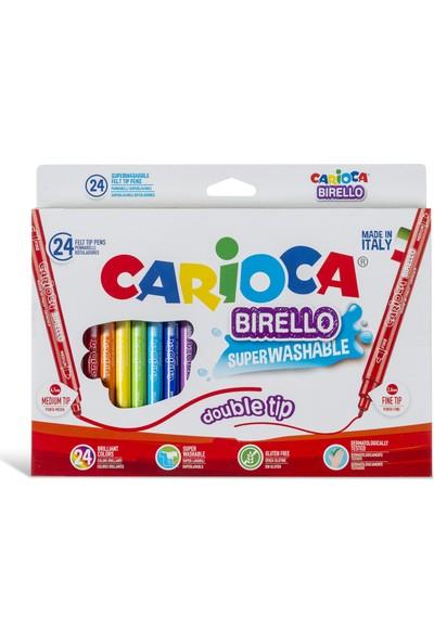 Carioca Birello Süper Yikanabilir Çift Tarafli Keçeli Boya Kalemi 24'Lü