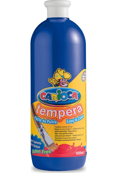 Carioca Tempera Suluboya Süper Yikanabilir Koyu Mavi 1000 Ml.