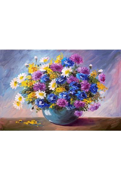 Nova Puzzle 1000 Parça Renkli Kir Çiçekleri Puzzle - 41019