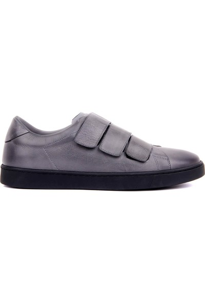 Sail Laker's Gri Deri Cırtlı Erkek Günlük Ayakkabı