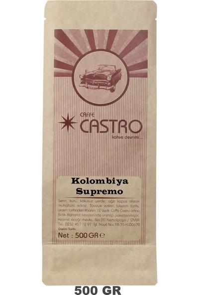Castro Kolombiya Supremo Nitelikli Çekirdek Kahve 500 gr