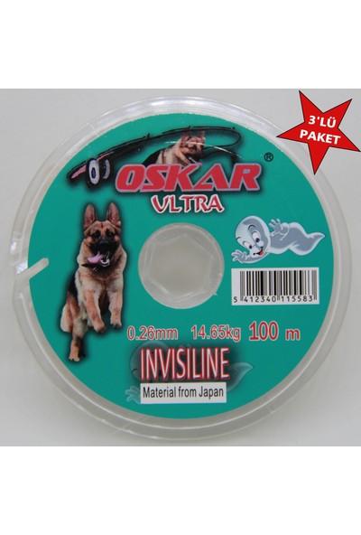 Oskar Invisiline Hayalet Makara Misina 0.26 Mm 100 Mt 3 Lü Paket