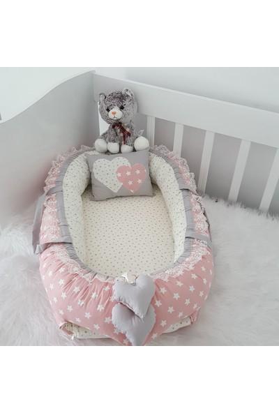 Bebekatölyesi Babynest Pembe Yıldız Desen
