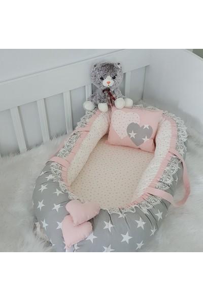 Bebekatölyesi Babynest Büyük Yıldızlar Pudra Kombin