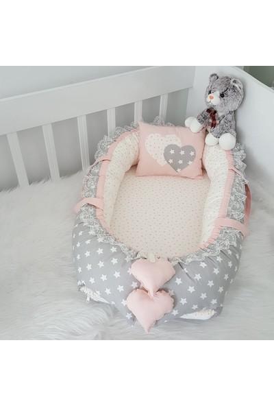 Bebekatölyesi Babynest Küçük Yıldızlı Pudra Kombin