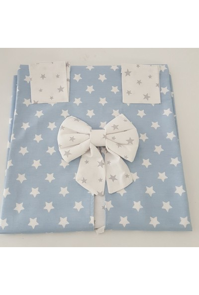 Ebabynest Mavi Beyaz Yıldız Desenli Puset Örtüsü