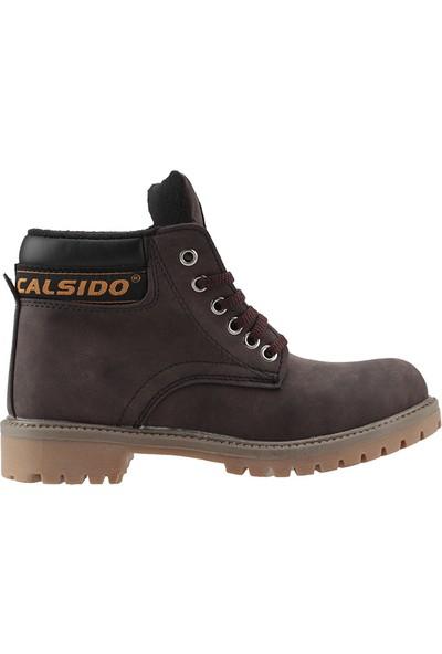 Calsido Nubuk Kahverengi Termal Astarlı Termo Erkek Çocuk Bot Ayakkabı