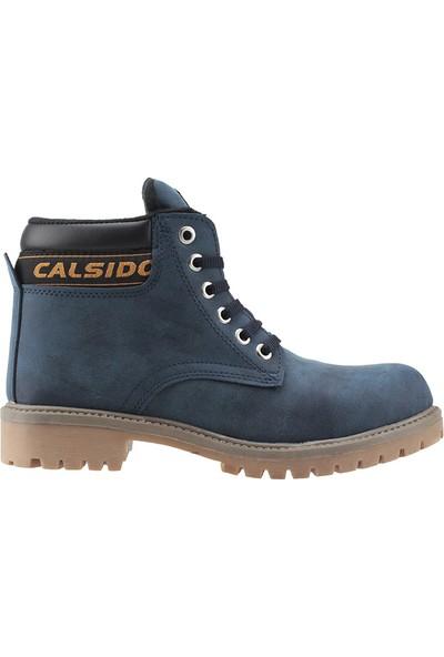 Calsido Lacivert Nubuk Termal Astarlı Termo Erkek Çocuk Bot Ayakkabı