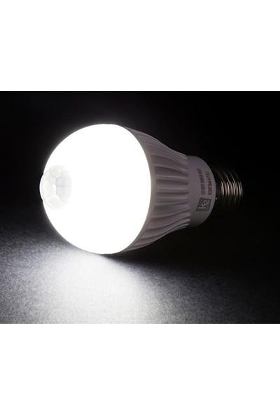 Gaman Hareket Sensörlü Led Ampul Beyaz 9W Beyaz E27