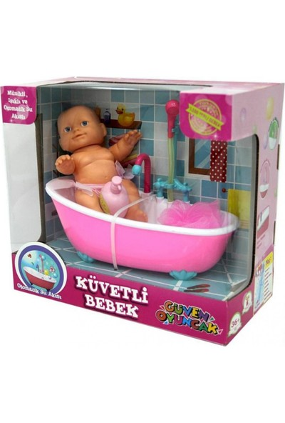 Güven Banyo Yapan Et Bebek Gerçek Su Devir Daimli Küvetli Bebek Fıskiyeli