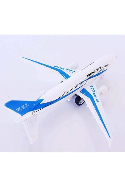Can Oyuncak Uçak Metal Çek Bırak Sesli Boing Yolcu Uçağı