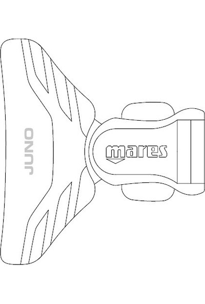 Mares Juno Dalış Maskesi Beyaz-Siyah