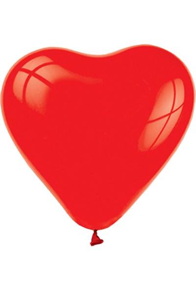 Parti Dolabı 25 Adet Kırmızı Kalp Balonu Baskısız Ucuz 12 İnc Helyumla Uçan Al