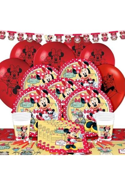 Parti Dolabı 16 Kişi Minnie Mouse Doğum Günü Parti Süsleri Malzemeleri Paketi
