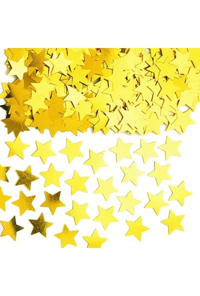 Parti Dolabı 1 Paket Altın Sarısı Gold Yıldız Şekilli Masa Süsleme Konfeti Pulu