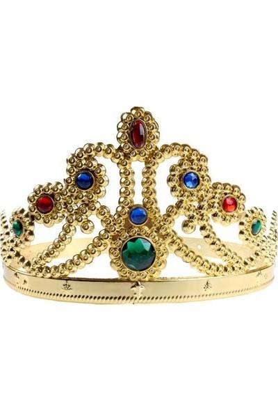 Parti Dolabı 1 Ad Gold (Altın Sarısı) Kraliçe Tacı Doğum Günü Parti Malzemesi