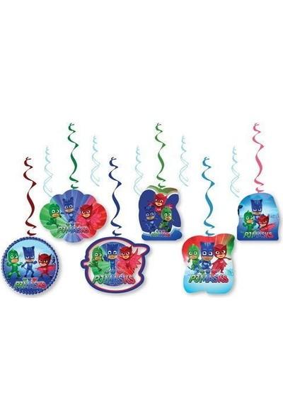 Parti Dolabı 6Lı Pj Maskeliler Parti Konsepti Yaylı Uzar Set Pija Masks Süs